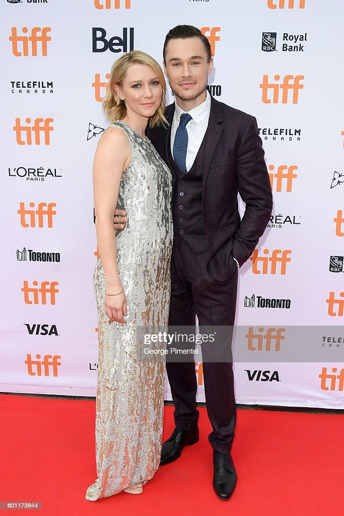 Actress Valorie Curry and actor Sam Underwood attend the 'American Pastoral' during the 2016 Toronto International Film Festival premiere at Princess of Wales Theatre on September 9, 2016 in Toronto, Canada.