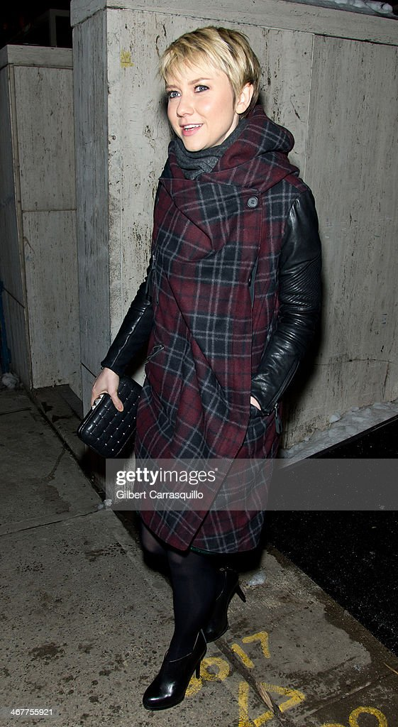 Actress Valorie Curry attends Fall 2014 Mercedes - Benz Fashion Week on February 7, 2014 in New York City.