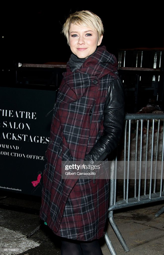 Actress <a gi-track='captionPersonalityLinkClicked' href=/galleries/search?phrase=Valorie+Curry&family=editorial&specificpeople=4070870 ng-click='$event.stopPropagation()'>Valorie Curry</a> attends Fall 2014 Mercedes - Benz Fashion Week on February 7, 2014 in New York City.