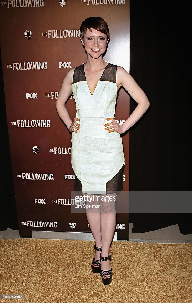 Actress Valorie Curry attends 'The Following' New York Premiere at New York Public Library - Astor Hall on January 18, 2013 in New York City.