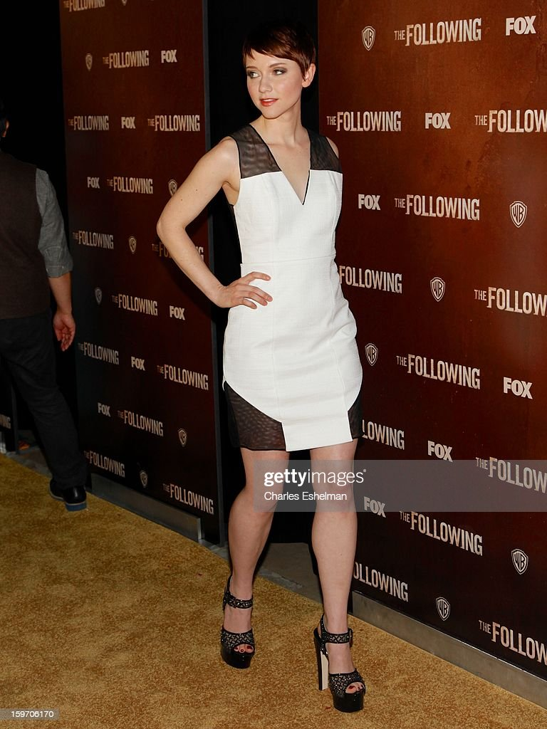 Actress Valorie Curry attends 'The Following' premiere at The New York Public Library on January 18, 2013 in New York City.