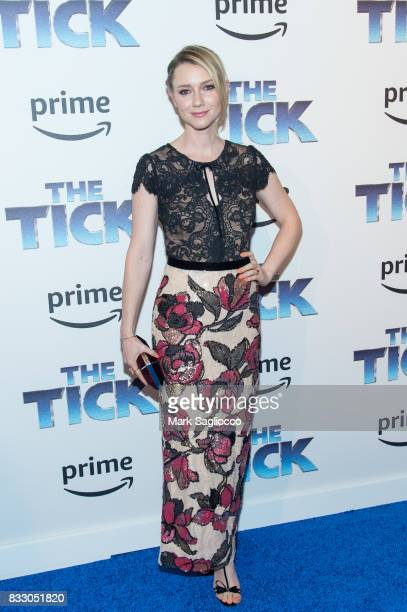 Actress Valorie Curry attends the 'The Tick' Blue Carpet Premiere at Village East Cinema on August 16 2017 in New York City