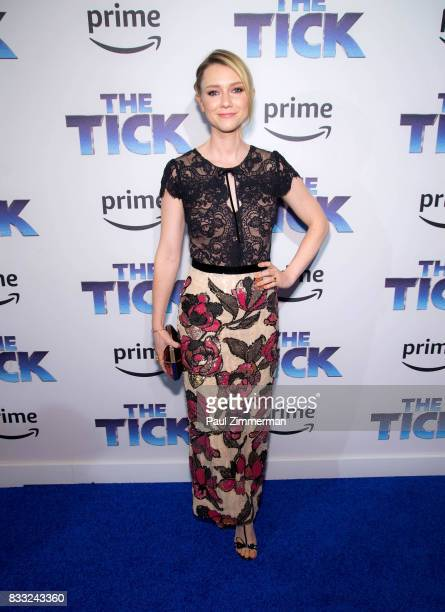 Actress Valorie Curry attends 'The Tick' Blue Carpet Premiere at Village East Cinema on August 16 2017 in New York City