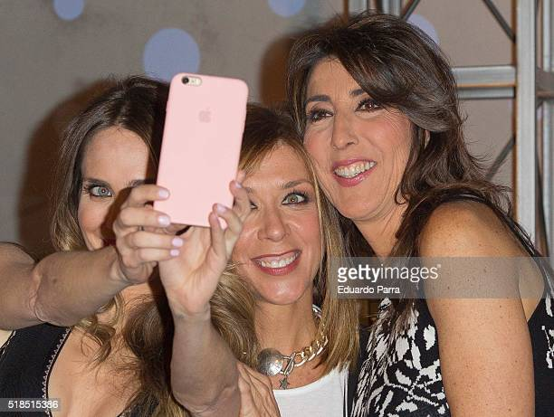 Actress Vanesa Romero actress Eva Isanta and actress Paz Padilla attend 'La que se avecina' 9th season presentation at TeleCinco studios on April 1...