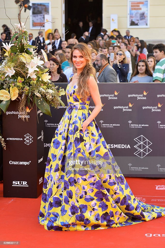 Actress Vanesa Romero attends 'Nuestros Amantes' premiere at the Cervantes Teather during the 19th Malaga Film Festival on April 30, 2016 in Malaga, Spain.