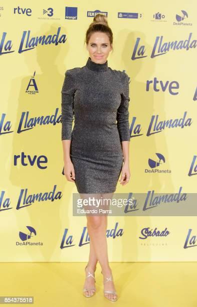 Actress Vanesa Romero attends the 'La Llamada' premiere at Capitol cinema on September 26 2017 in Madrid Spain