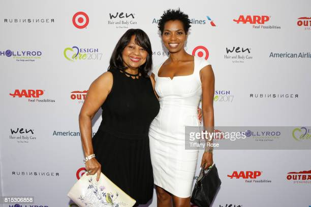 Actress Vanessa A Williams and guest at HollyRod Foundation's DesignCare Gala on July 15 2017 in Pacific Palisades California