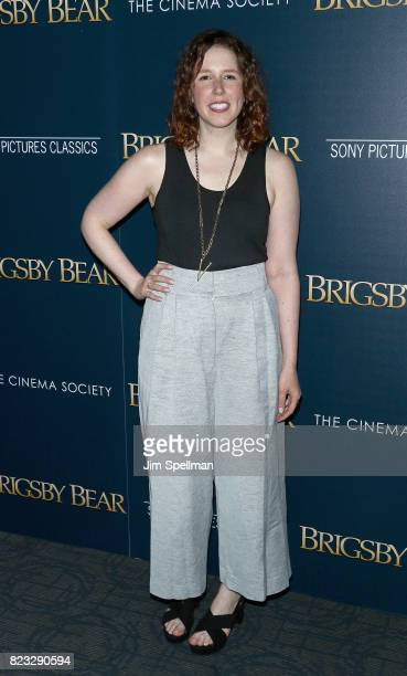 Actress Vanessa Bayer attends the screening of 'Brigsby Bear' hosted by Sony Pictures Classics and The Cinema Society at Landmark Sunshine Cinema on...
