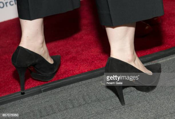 Actress Vanessa Bayer shoe detail attends the 'Carrie Pilby' New York screening at Landmark Sunshine Cinema on March 23 2017 in New York City