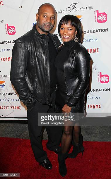 Actress Vanessa Bell Calloway and husband Anthony Calloway attend the Debbie Allen Dance Academy Fundraiser Gala at the BookBindery and Brick...