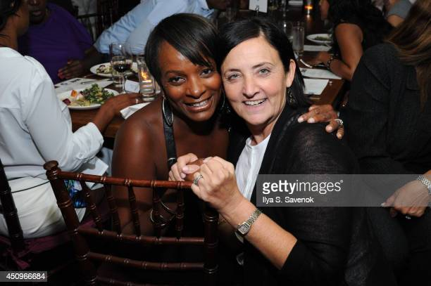 Actress Vanessa Bell Calloway and UP SVP Original Programming Barbara Fisher attend the 2014 ABFF_ UP TV Aspire TV Dinner at Soho House on June 20...