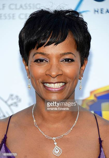 Actress Vanessa Bell Calloway arrives at the Jenesse Center's 2013 Silver Rose Gala Auction at Vibiana on April 6 2013 in Los Angeles California