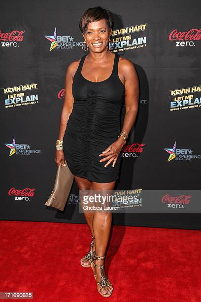 Actress Vanessa Bell Calloway arrives at the 'Kevin Hart Let Me Explain' premiere at Regal Cinemas LA Live on June 27 2013 in Los Angeles California