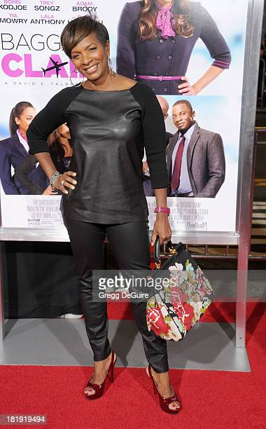 Actress Vanessa Bell Calloway arrives at the Los Angeles premiere of 'Baggage Claim' at Regal Cinemas LA Live on September 25 2013 in Los Angeles...