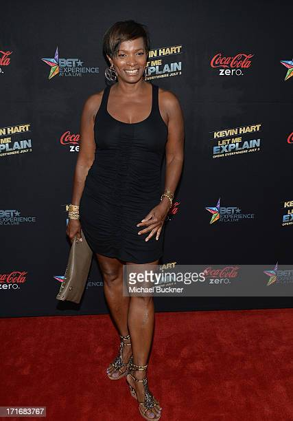 Actress Vanessa Bell Calloway arrives at the premiere of Summit Entertainment and Code Black Film's 'Kevin Hart Let Me Explain' at Regal Cinemas LA...