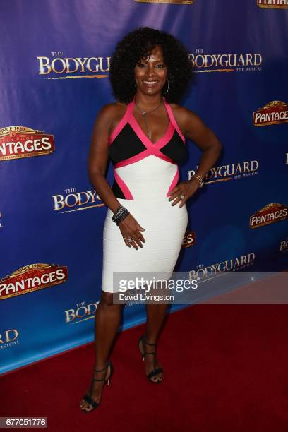 Actress Vanessa Bell Calloway arrives at the premiere of 'The Bodyguard' at the Pantages Theatre on May 2 2017 in Hollywood California