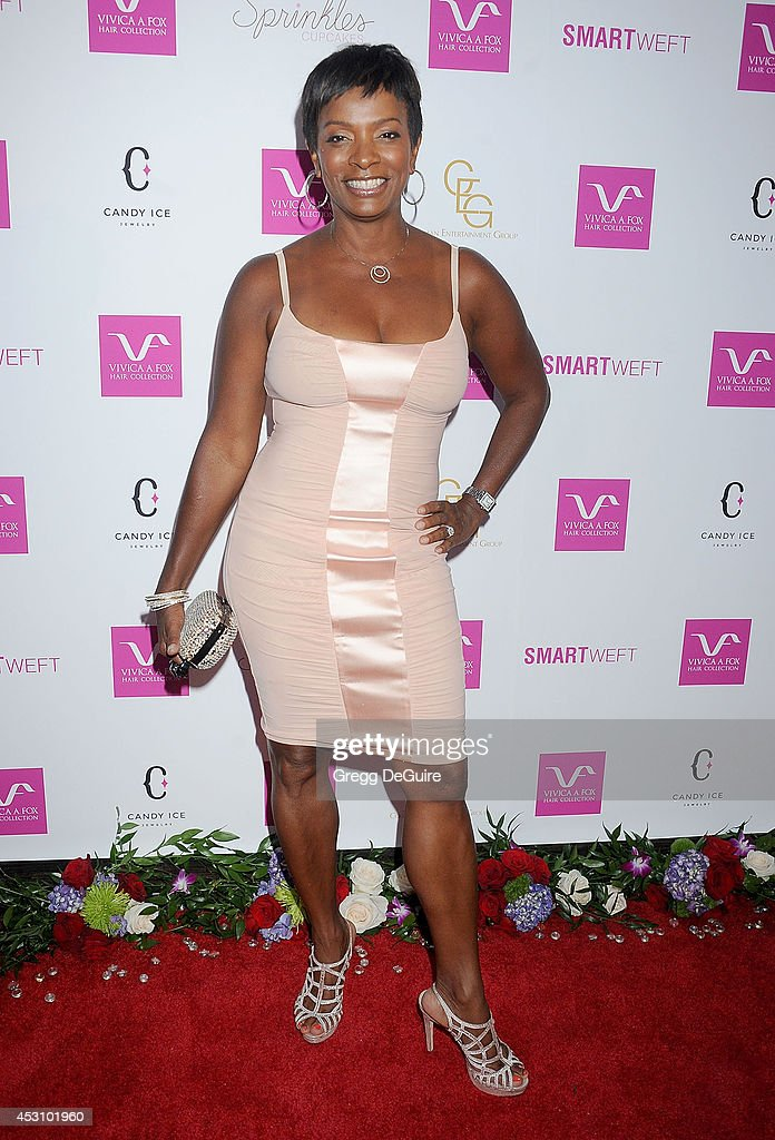 Actress <a gi-track='captionPersonalityLinkClicked' href=/galleries/search?phrase=Vanessa+Bell+Calloway&family=editorial&specificpeople=847125 ng-click='$event.stopPropagation()'>Vanessa Bell Calloway</a> arrives at the Vivica A. Fox 50th Birthday party at Philippe Chow on August 2, 2014 in Beverly Hills, California.