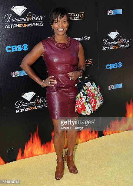 Actress Vanessa Bell Calloway arrives for the 6th Annual Diamond In The RAW Action Icon Awards held at Skirball Cultural Center on November 10 2013...