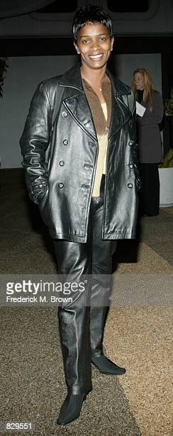 Actress Vanessa Bell Calloway attends the film screening of 'Almost Too Late' February 28 2002 in Los Angeles CA The film is a benefit screening to...