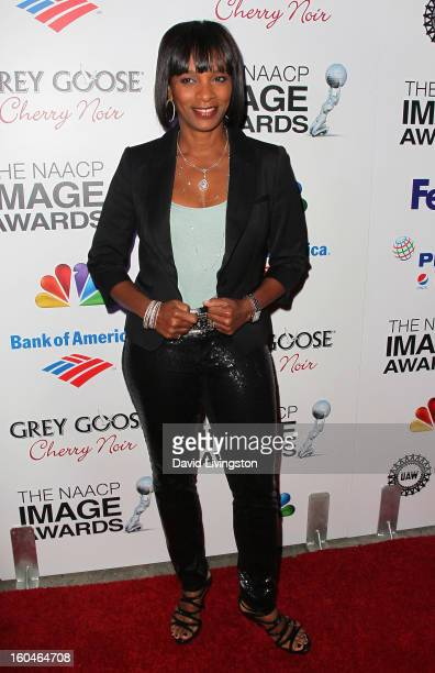 Actress Vanessa Bell Calloway attends the NAACP Image Awards PreGala at Vibiana on January 31 2013 in Los Angeles California