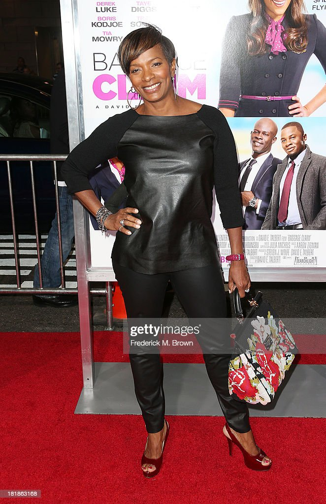 Actress Vanessa Bell Calloway attends the premiere of Fox Searchlight Pictures' 'Baggage Claim' at the Regal Cinemas L.A. Live on September 25, 2013 in Los Angeles, California.