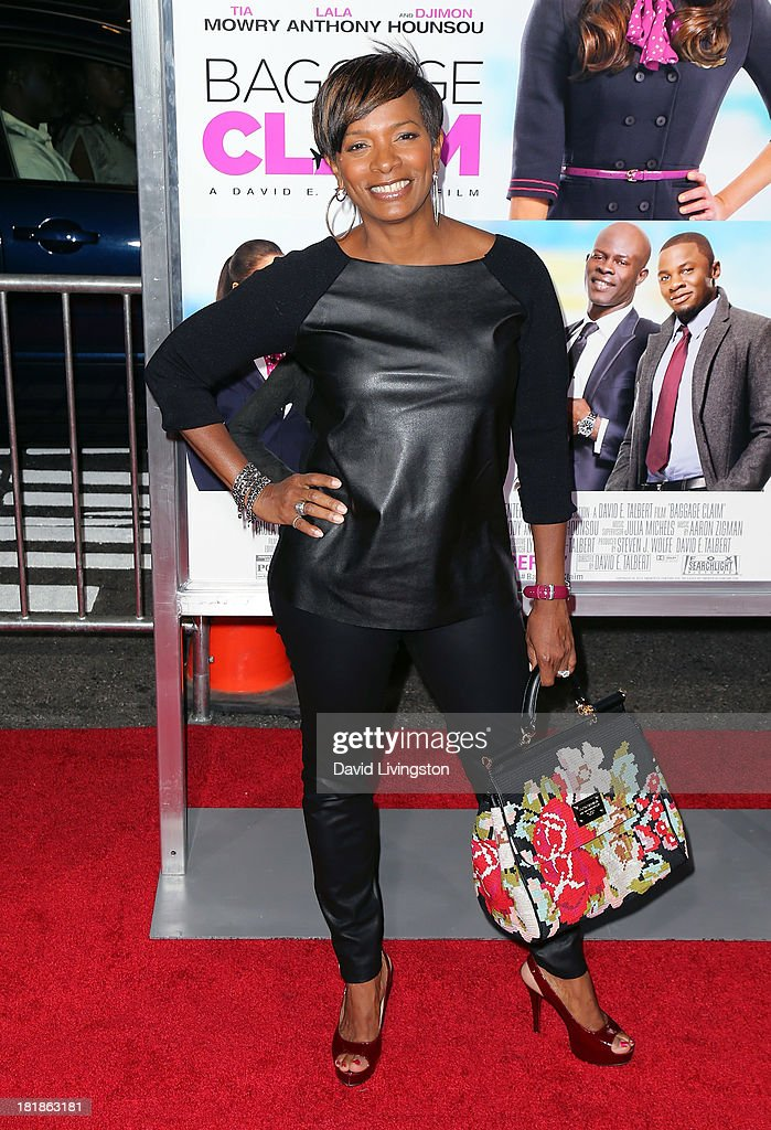 Actress Vanessa Bell Calloway attends the premiere of Fox Searchlight Pictures' 'Baggage Claim' at Regal Cinemas L.A. Live on September 25, 2013 in Los Angeles, California.