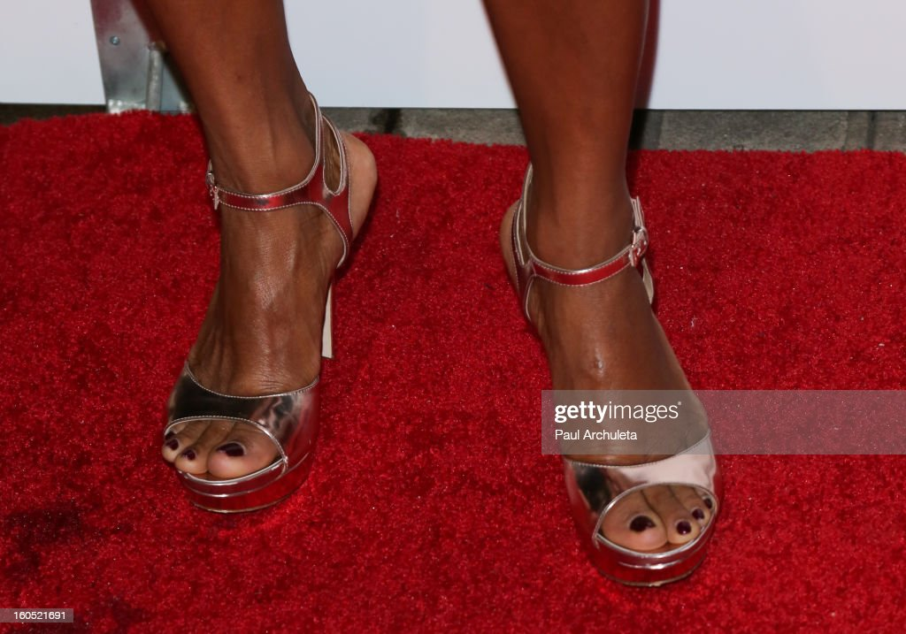Actress <a gi-track='captionPersonalityLinkClicked' href=/galleries/search?phrase=Vanessa+Bell+Calloway&family=editorial&specificpeople=847125 ng-click='$event.stopPropagation()'>Vanessa Bell Calloway</a> (Shoe Detail) attends the The 44th NAACP Image Awards post show gala at the Millennium Biltmore Hotel on February 1, 2013 in Los Angeles, California.