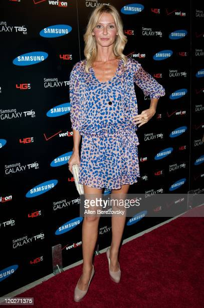 Actress Vanessa Branch arrives at the Samsung Galaxy Tab 101 launch party at The Beverly on August 2 2011 in Los Angeles California