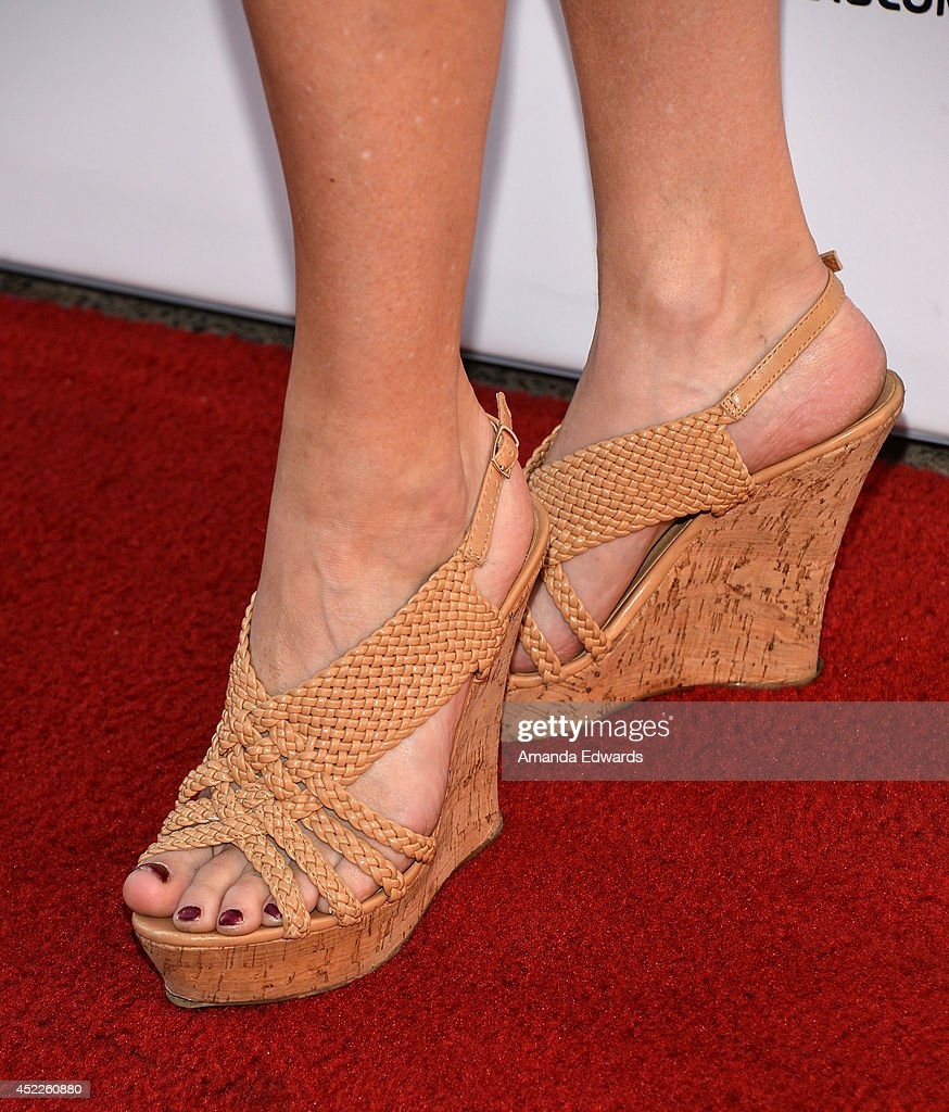 Actress Vanessa Cater (shoe detail) arrives at the 4th Annual Variety - The Children's Charity of Southern CA Texas Hold 'Em Poker Tournament at Paramount Studios on July 16, 2014 in Hollywood, California.
