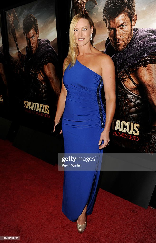 Actress Vanessa Cater arrives at the premiere of Starz's 'Spartacus: War Of The Damned' at the Regal Cinemas L.A. Live on January 22, 2013 in Los Angeles, California.