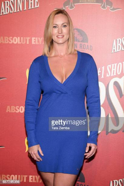Actress Vanessa Cater arrives to the opening night for 'Absinthe' at LA Live Event Deck on March 23 2017 in Los Angeles California