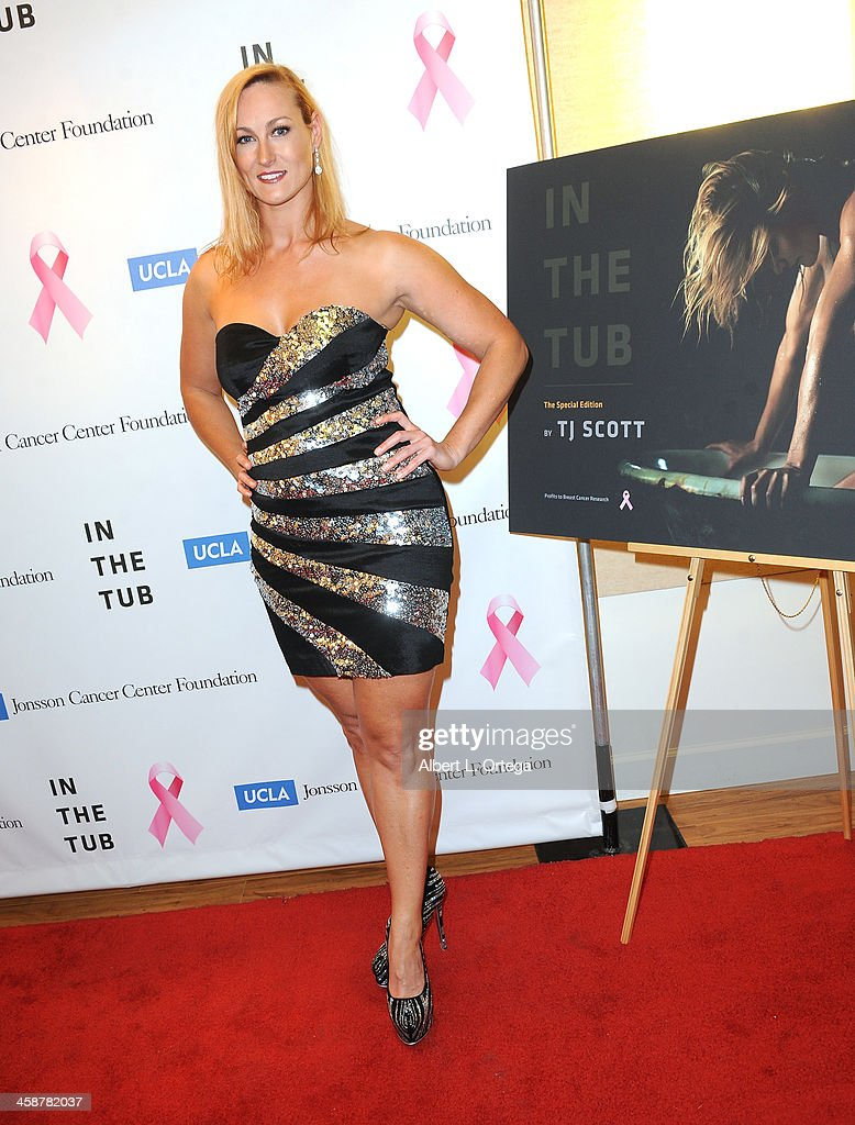 Actress Vanessa Cater attends TJ Scott's 'In The Tub' Book Party Launch to benefit UCLA's Jonsson Cancer Center for Breast Research hosted by Katrina Law of 'Spartacus' held at Light In Art on December 12, 2013 in Los Angeles, California.