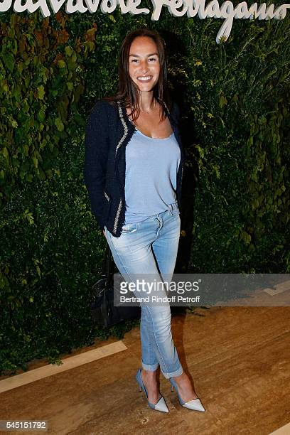 Actress Vanessa Demouy attends the Re Opening of Salvatore Ferragamo Boutique at Avenue Montaigne on July 5 2016 in Paris France