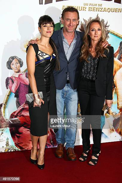 Actress Vanessa Guide Actor JeanPaul Rouve and Actress Audrey Lamy attend 'Les Nouvelles Aventures D'Aladin' Premiere at Le Grand Rex on October 6...