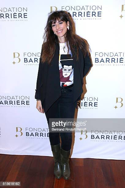 Actress Vanessa Guide attends the Premiere of 'Five' Laureat Du Prix Cinema 2016 Fondation Diane And Lucien Barriere Held at Cinema Publicis and...