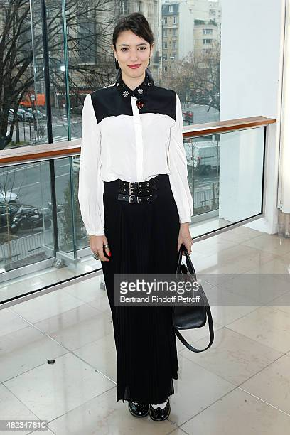 Actress Vanessa Guide attends the Stephane Rolland show as part of Paris Fashion Week Haute Couture Spring/Summer 2015 on January 27 2015 in Paris...