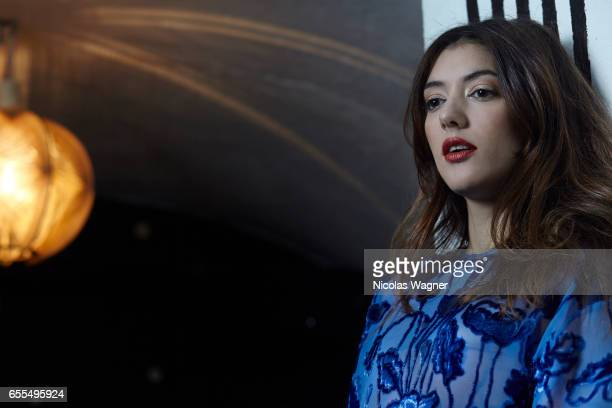 Actress Vanessa Guide is photographed for Self Assignment on February 27 2017 in Paris France