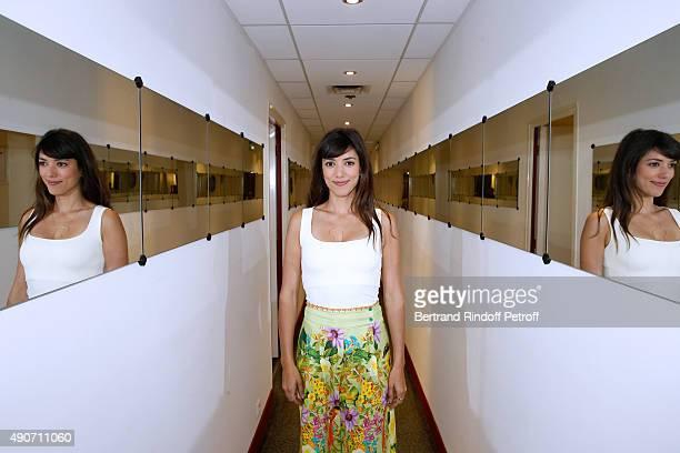 Actress Vanessa Guide presents the Movie 'Les Nouvelles aventures d'Aladin' during the 'Vivement Dimanche' French TV Show at Pavillon Gabriel on...