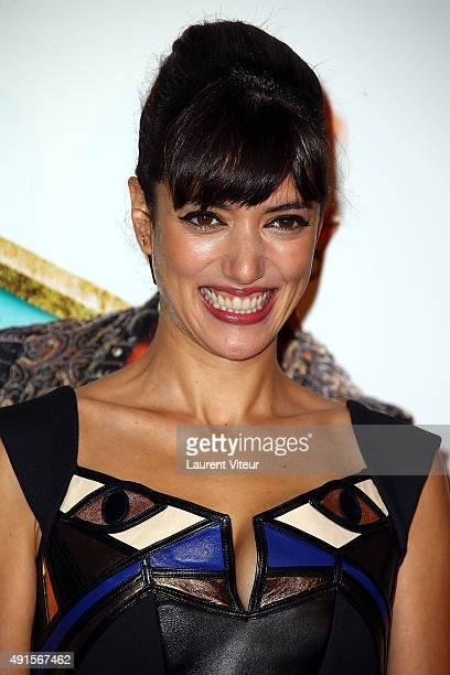 Actress Vanessa Guide William Lebghil attends 'Les Nouvelles Aventures D'Aladin' Premiere at Le Grand Rex on October 6 2015 in Paris France