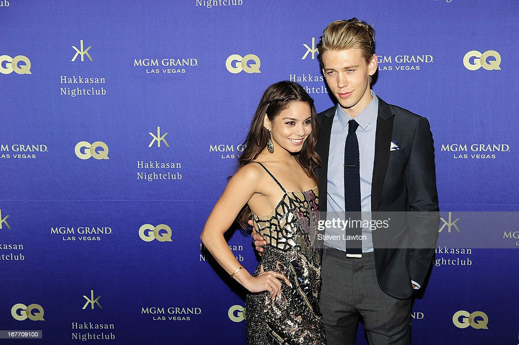 Actress Vanessa Hudgens (L) and actor <a gi-track='captionPersonalityLinkClicked' href=/galleries/search?phrase=Austin+Butler&family=editorial&specificpeople=5626394 ng-click='$event.stopPropagation()'>Austin Butler</a> arrive at the grand opening of Hakkasan Las Vegas Restaurant and Nightclub at the MGM Grand Hotel/Casino on April 27, 2013 in Las Vegas, Nevada.