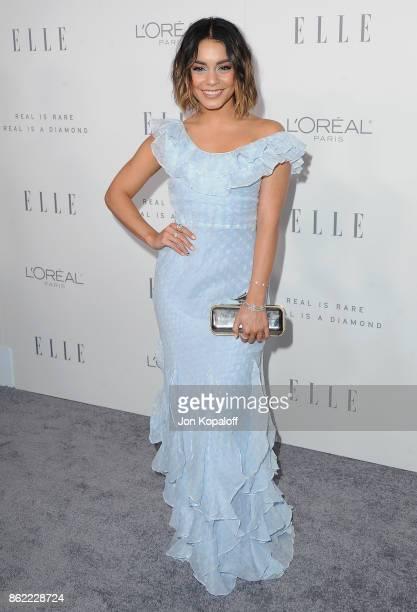 Actress Vanessa Hudgens arrives at ELLE's 24th Annual Women in Hollywood Celebration at Four Seasons Hotel Los Angeles at Beverly Hills on October 16...