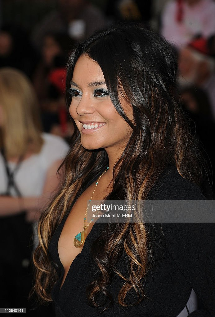 Actress Vanessa Hudgens arrives at premiere of Walt Disney Pictures' 'Pirates of the Caribbean On Stranger Tides' held at Disneyland on May 7 2011 in...