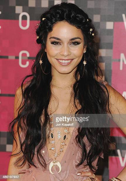 Actress Vanessa Hudgens arrives at the 2015 MTV Video Music Awards at Microsoft Theater on August 30 2015 in Los Angeles California