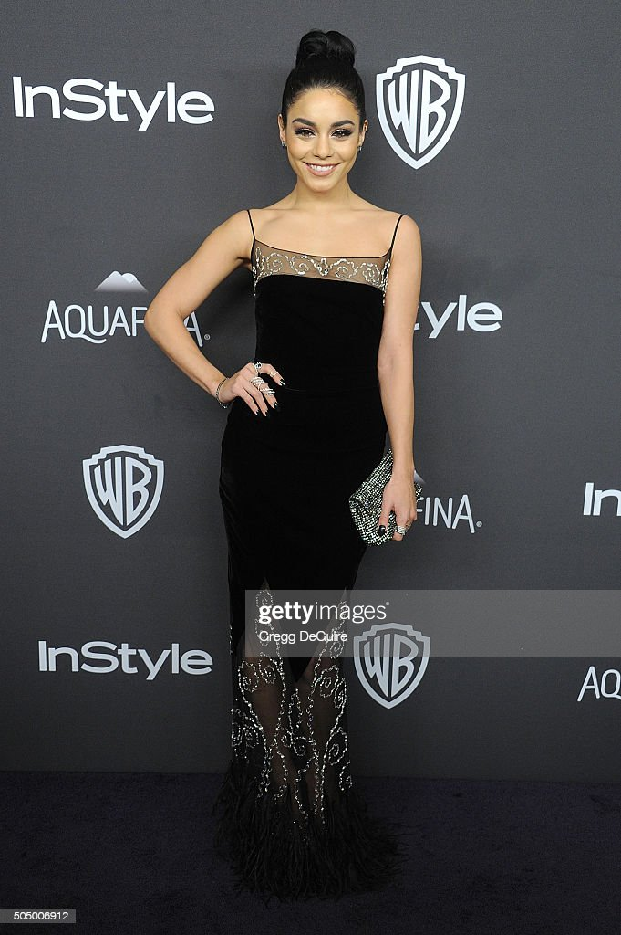 Actress Vanessa Hudgens arrives at the 2016 InStyle And Warner Bros. 73rd Annual Golden Globe Awards Post-Party at The Beverly Hilton Hotel on January 10, 2016 in Beverly Hills, California.