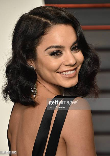 Actress Vanessa Hudgens arrives at the 2016 Vanity Fair Oscar Party Hosted By Graydon Carter at Wallis Annenberg Center for the Performing Arts on...