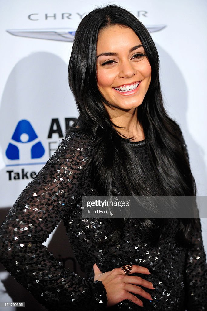 Actress Vanessa Hudgens arrives at the Arthritis Foundation's annual gala at The Beverly Hilton Hotel on October 25, 2012 in Beverly Hills, California.