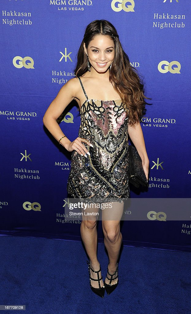 Actress Vanessa Hudgens arrives at the grand opening of Hakkasan Las Vegas Restaurant and Nightclub at the MGM Grand Hotel/Casino on April 27, 2013 in Las Vegas, Nevada.