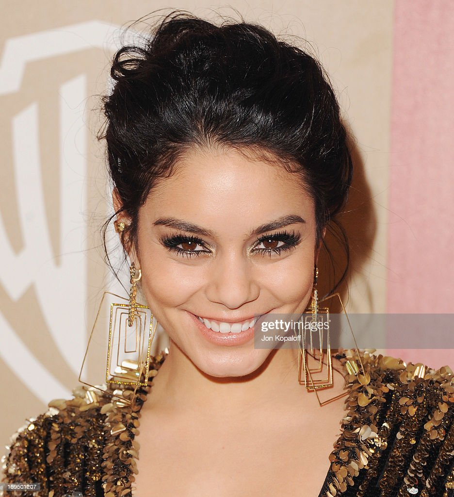 Actress Vanessa Hudgens arrives at the InStyle And Warner Bros. Golden Globe Party at The Beverly Hilton Hotel on January 13, 2013 in Beverly Hills, California.
