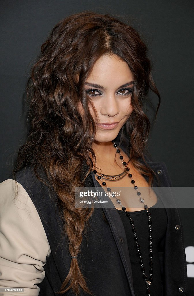 Actress Vanessa Hudgens arrives at the Myspace event at El Rey Theatre on June 12, 2013 in Los Angeles, California.