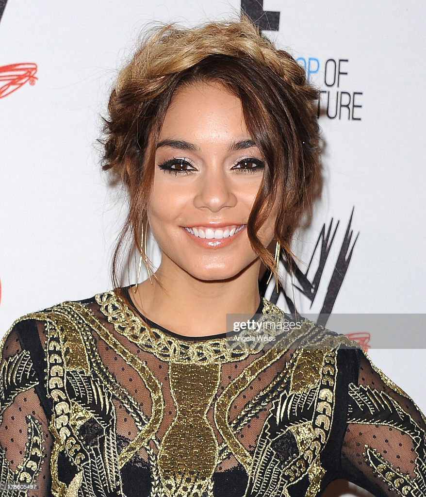 Actress Vanessa Hudgens arrives at WWE and E! Entertainment's 'Superstars For Hope' at Beverly Hills Hotel on August 15, 2013 in Beverly Hills, California.